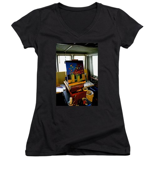 My Art Studio Women's V-Neck