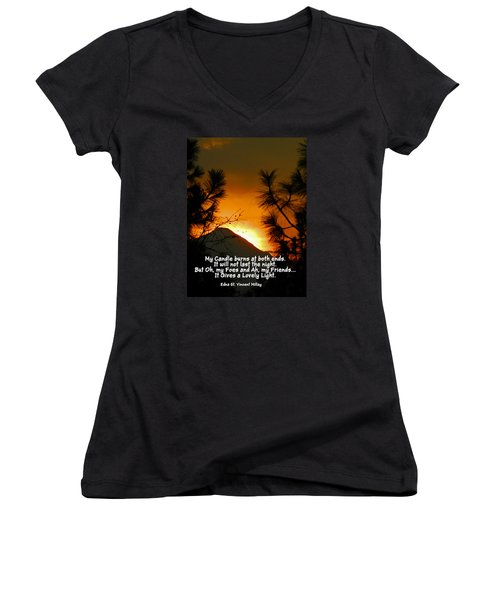 My Candle Women's V-Neck T-Shirt