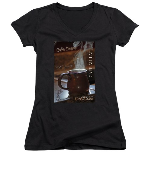My Favorite Cup Women's V-Neck T-Shirt (Junior Cut) by Robert Meanor