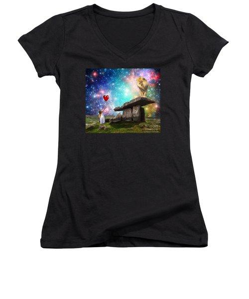 My Heart Belongs To You Women's V-Neck T-Shirt