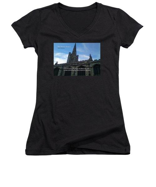 My Power Source Women's V-Neck T-Shirt