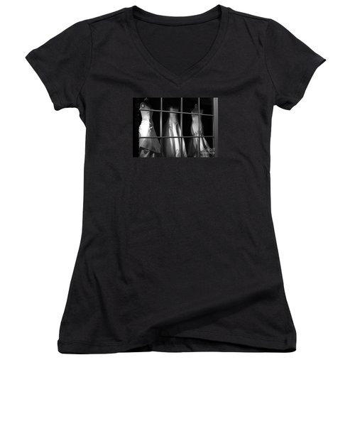 Women's V-Neck T-Shirt (Junior Cut) featuring the photograph My Soulmate by Steven Macanka