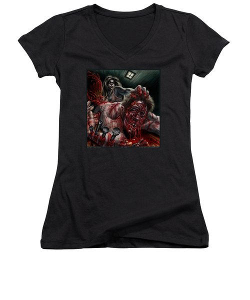 My Turn Women's V-Neck T-Shirt (Junior Cut) by Tony Koehl