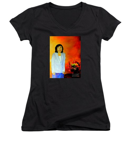 My Wife Women's V-Neck T-Shirt