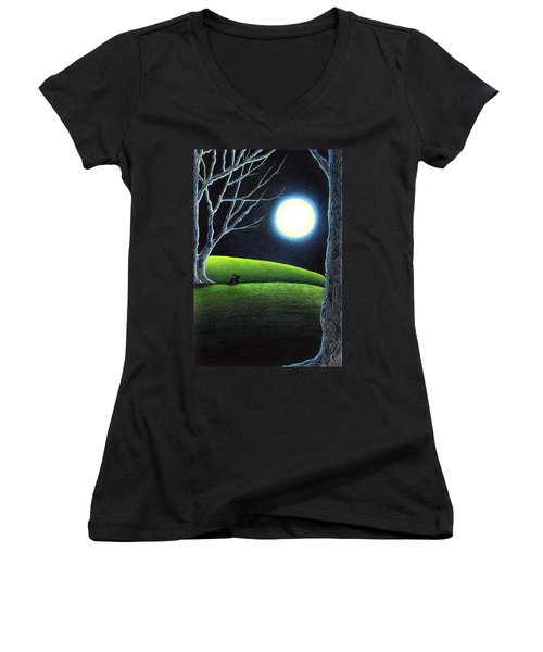 Mystery's Silence And Wonder's Patience Women's V-Neck (Athletic Fit)