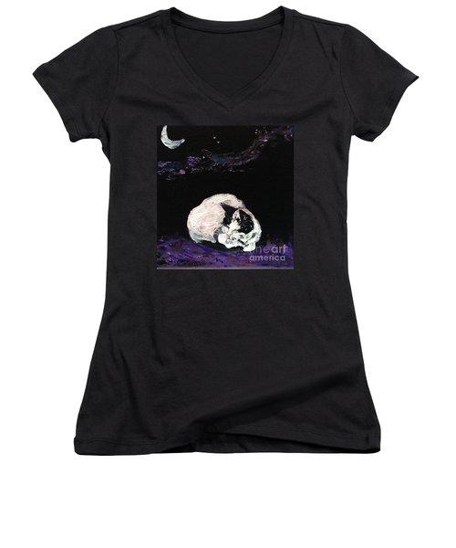 Mystic Cat Nap  Women's V-Neck