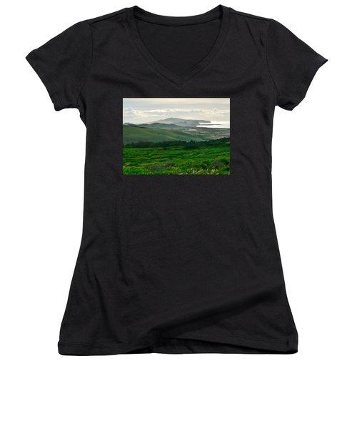 Mystic Morning Women's V-Neck T-Shirt
