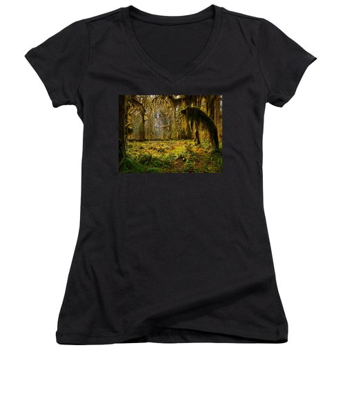 Mystical Forest Women's V-Neck T-Shirt