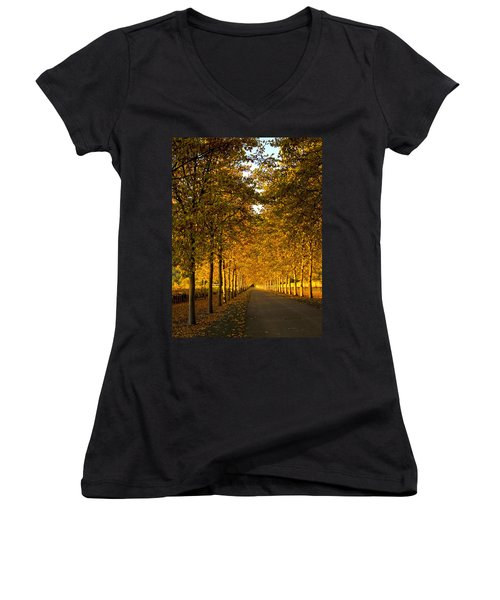 Napa Valley Fall Women's V-Neck (Athletic Fit)