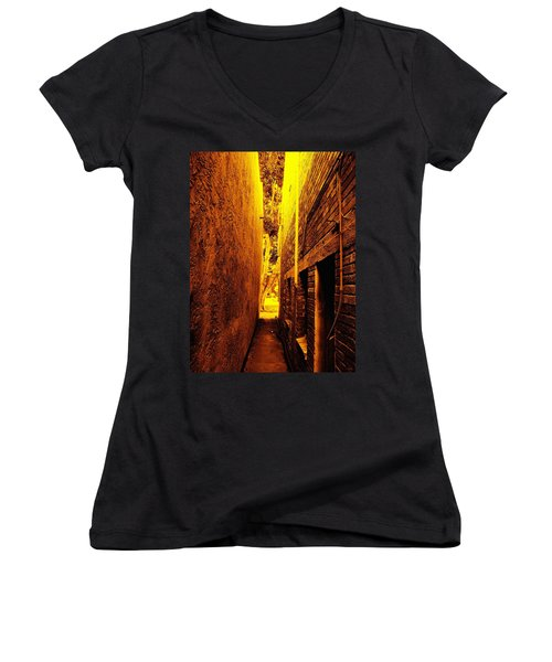 Narrow Way To The Light Women's V-Neck T-Shirt
