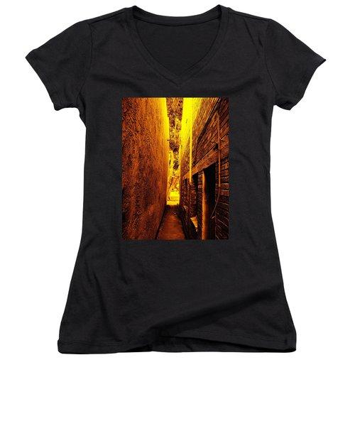 Narrow Way To The Light Women's V-Neck T-Shirt