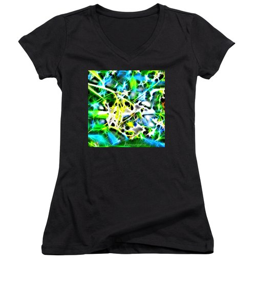 Nature Abstracted Women's V-Neck T-Shirt (Junior Cut) by Anna Porter