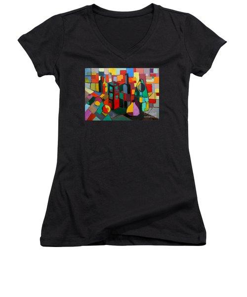 Nature Morte Cubiste Women's V-Neck T-Shirt