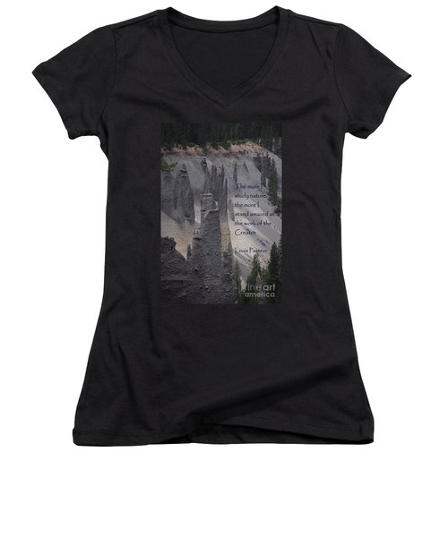 Nature Study Women's V-Neck (Athletic Fit)