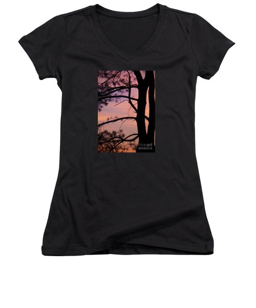 Nature Sunrise Women's V-Neck (Athletic Fit)