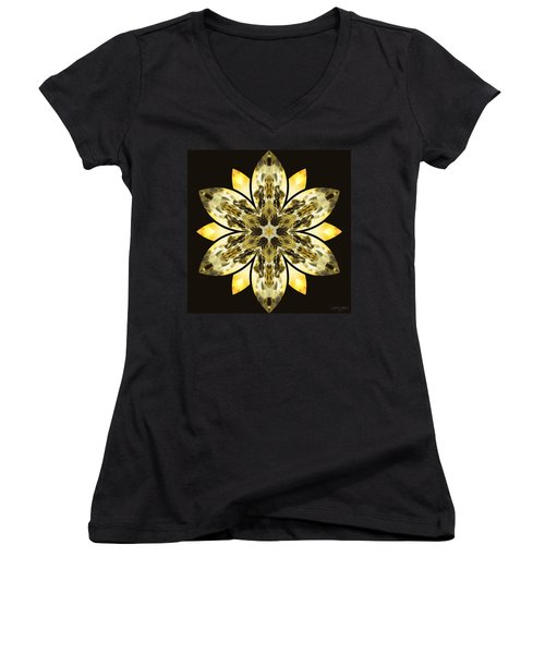 Nature's Mandala 57 Women's V-Neck (Athletic Fit)