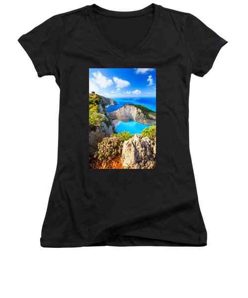 Navagio Bay Women's V-Neck
