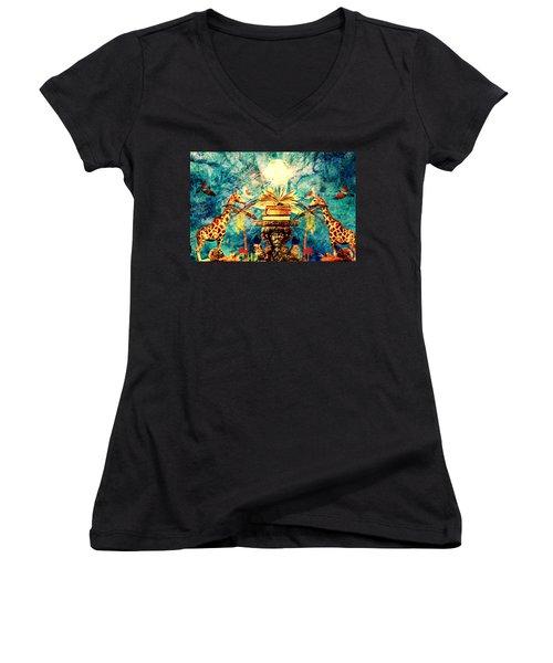 Near Reflections Women's V-Neck T-Shirt
