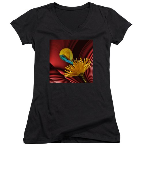 Women's V-Neck featuring the digital art Nectar Of The Gods by Barbara St Jean