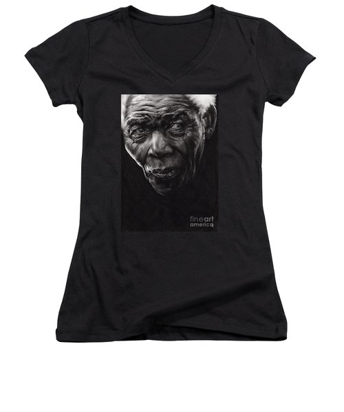 Nelson Women's V-Neck T-Shirt (Junior Cut) by Paul Davenport