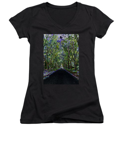 Neon Forest Women's V-Neck