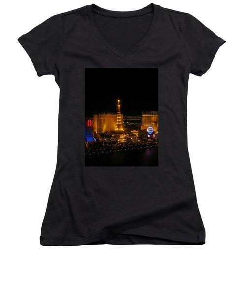 Neon Illusion Women's V-Neck T-Shirt (Junior Cut) by Angela J Wright