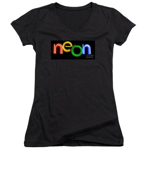 Neon Women's V-Neck T-Shirt