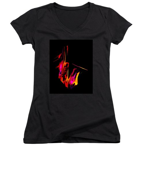 Neon Sax Women's V-Neck (Athletic Fit)
