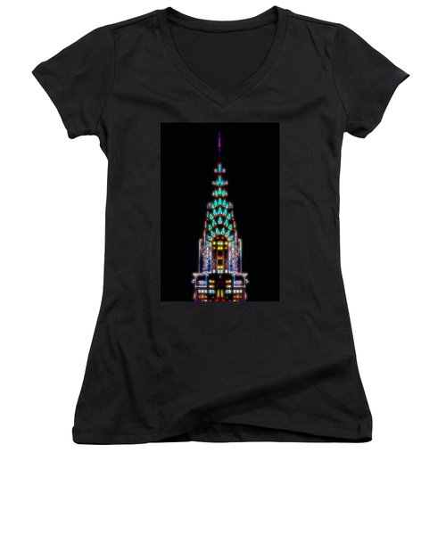 Neon Spires Women's V-Neck T-Shirt