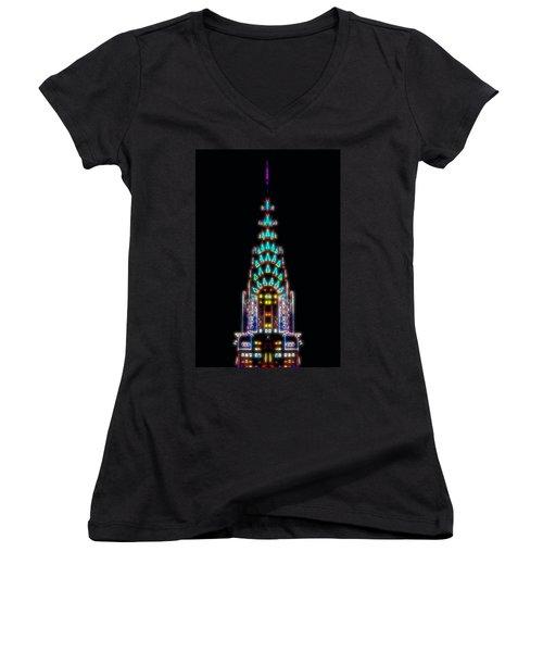 Neon Spires Women's V-Neck T-Shirt