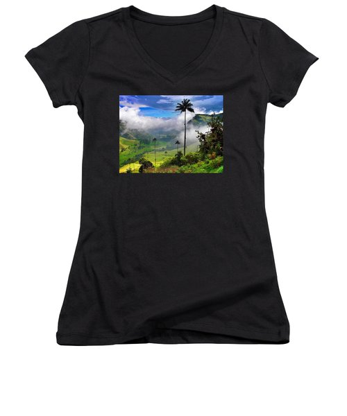 Nephilim Women's V-Neck T-Shirt (Junior Cut) by Skip Hunt