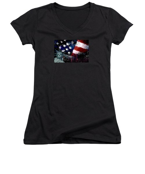 Never Forget Women's V-Neck T-Shirt