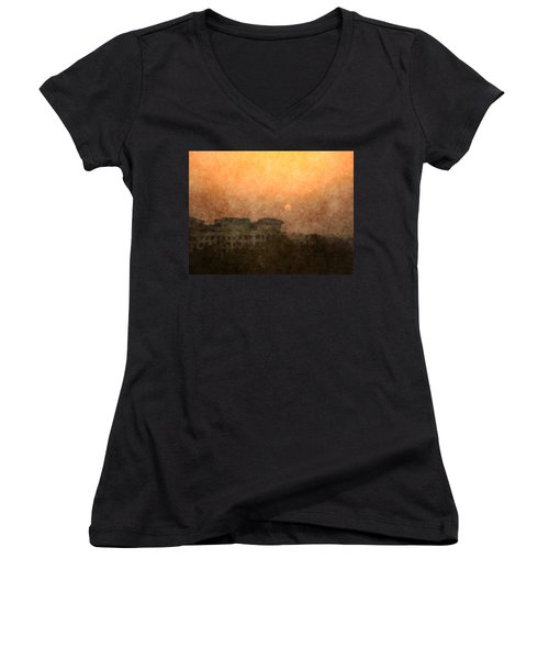 New Delhi Sunset Women's V-Neck (Athletic Fit)