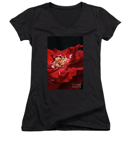 Women's V-Neck T-Shirt (Junior Cut) featuring the photograph New Dream by Joy Watson