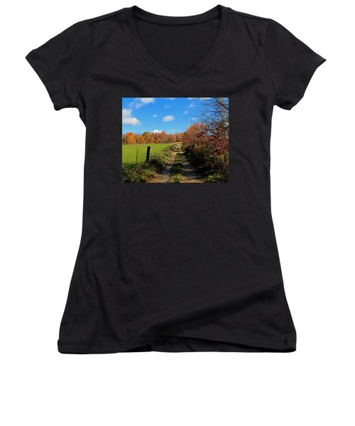 New England Farm Rota Springs Women's V-Neck T-Shirt