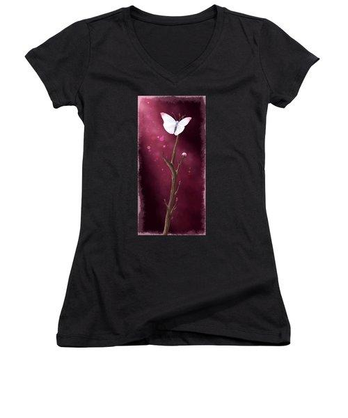 New Life Women's V-Neck T-Shirt (Junior Cut) by Veronica Minozzi