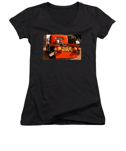 New Mexico Truck Women's V-Neck (Athletic Fit)