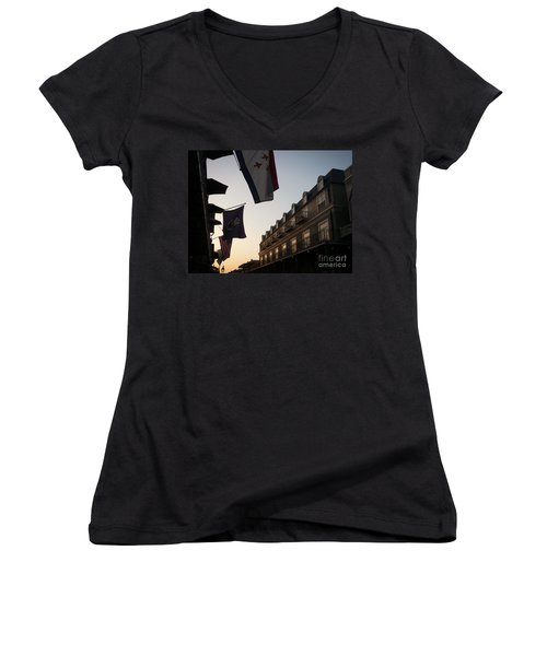 Evening In New Orleans Women's V-Neck T-Shirt