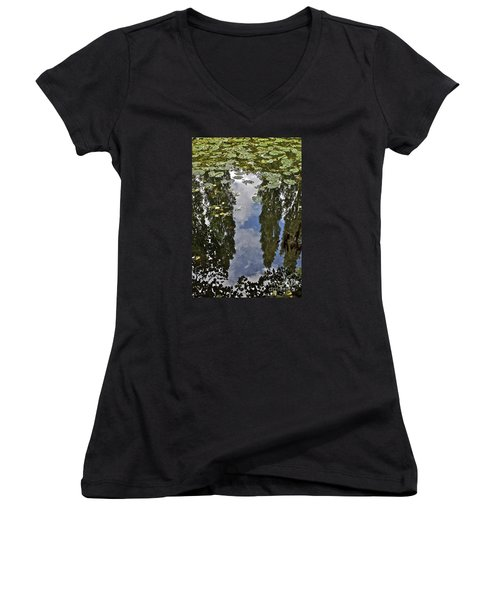 Reflections Amongst The Lily Pads Women's V-Neck