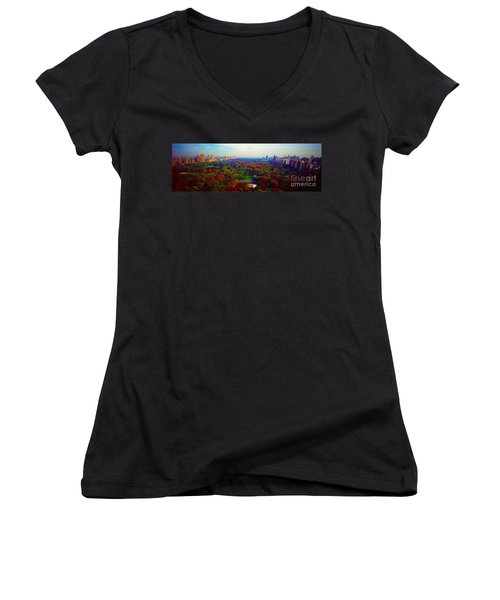 New York City Central Park South Women's V-Neck
