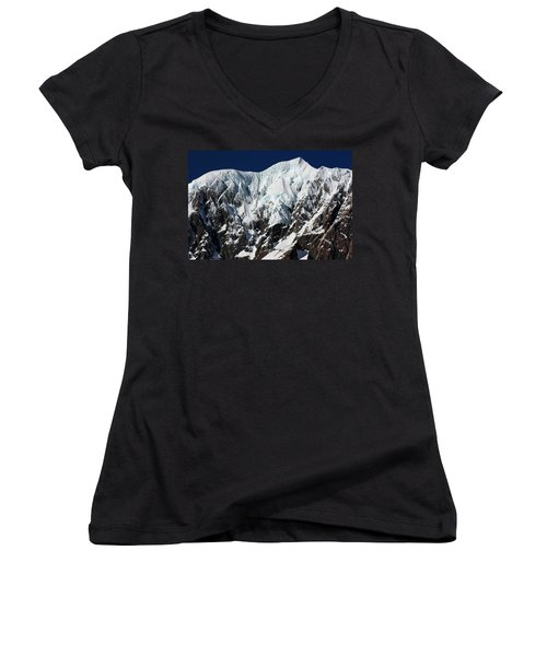 New Zealand Mountains Women's V-Neck (Athletic Fit)