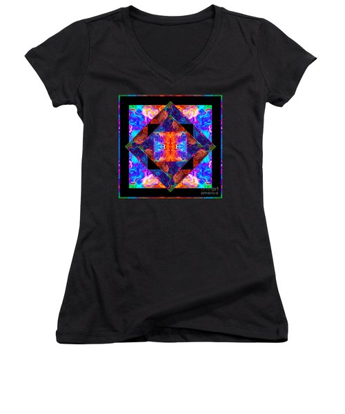 Newly Formed Bliss Mandala Artwork Women's V-Neck (Athletic Fit)