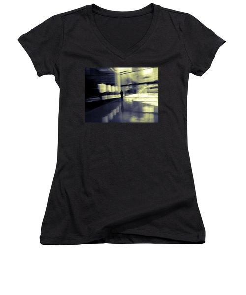 Women's V-Neck T-Shirt (Junior Cut) featuring the photograph Nexus by Alex Lapidus