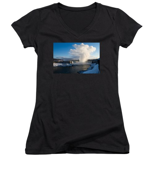 Niagara Falls Makes Its Own Weather Women's V-Neck (Athletic Fit)