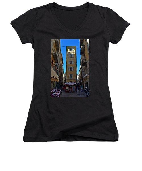 Nice - La Maison Women's V-Neck T-Shirt (Junior Cut) by Allen Sheffield