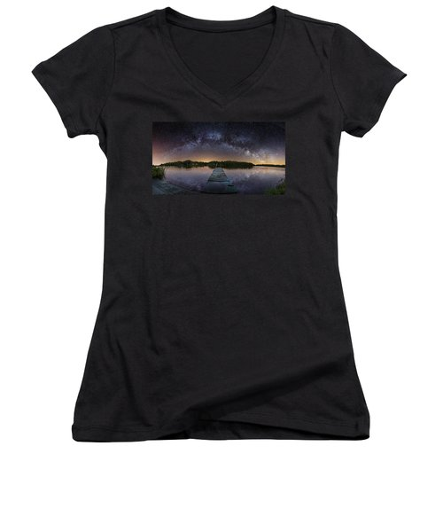 Night At The Lake  Women's V-Neck