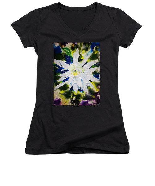Night Bloomer Women's V-Neck T-Shirt