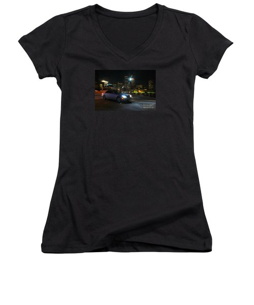 Night Out In Boston Women's V-Neck T-Shirt