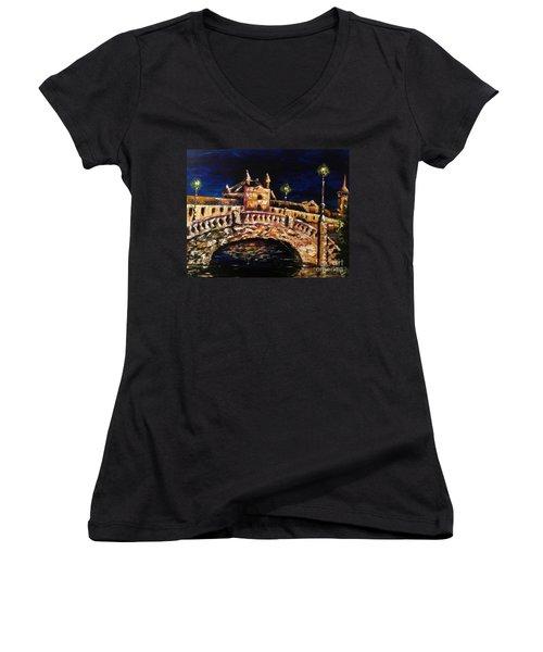 Night Passage Women's V-Neck T-Shirt