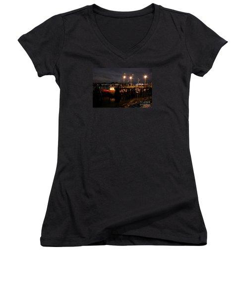Night Pier Women's V-Neck T-Shirt